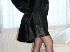 Manteau de fourrure - Cougar Bordeaux