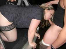 Suce dans le coffre - Sexe voiture