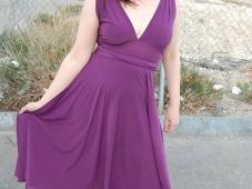 Robe violette - Exhib collants