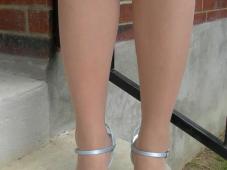 Chaussures talons et collants