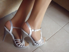 Mes pieds chaussures talons argent