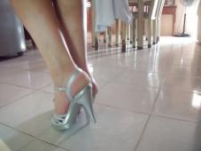 Mes pieds sans collants à la maison