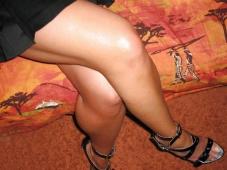 Belles jambes et chaussures talon