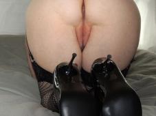 Exhib cul en talon aiguille - Femme offerte