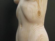 Femme nue en bois - Humour sexy
