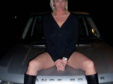 Exhib de nuit sur sa voiture