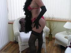 Bas nylon et string - Femme mûre sexy