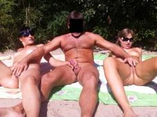 Séance mutuelle de masturbation - Baise plage