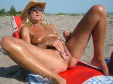 Masturbation soleil - Femme mature