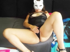 Libertine sexy se caresse le minou - Plan cul