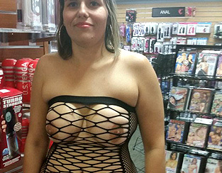 Contribution sexy dans un sex-shop